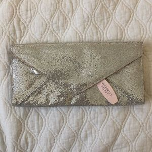 Shiny Victoria's Secret envelope clutch.